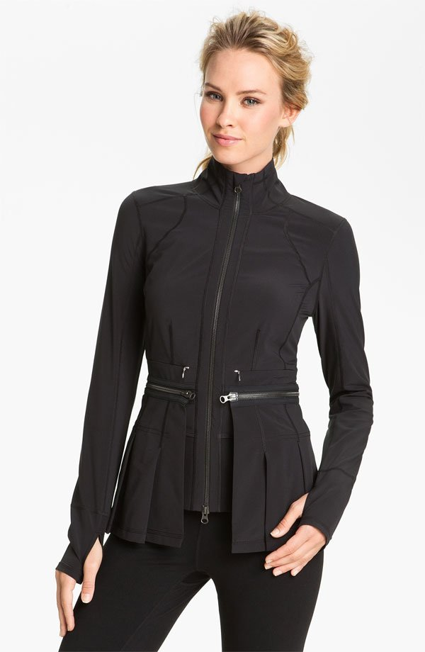 Zip-Off Peplum Jacket