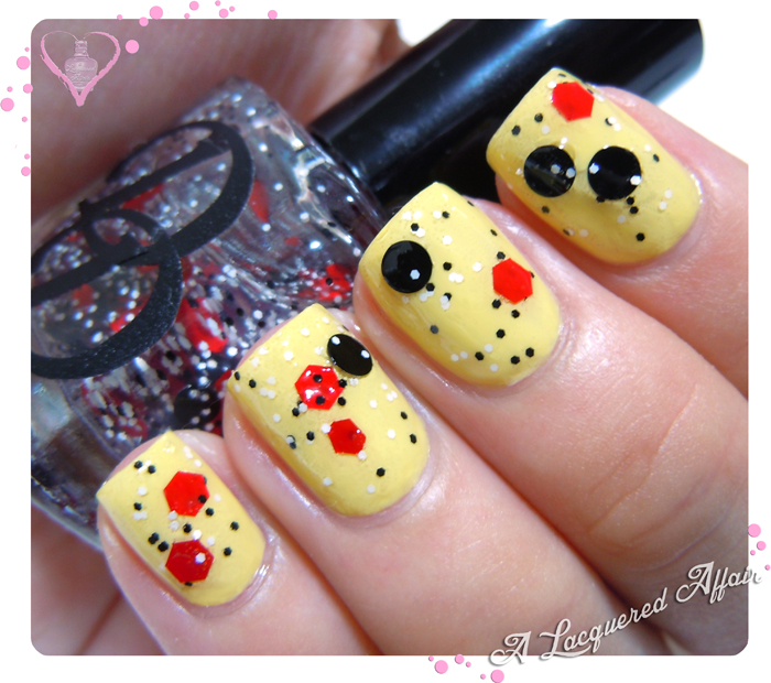Daring Digits Sylvester over Sally Hansen Yellow Kitty