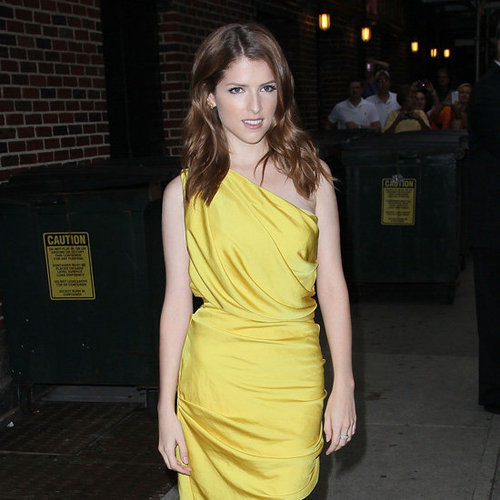 Anna Kendrick Wearing Yellow Dress