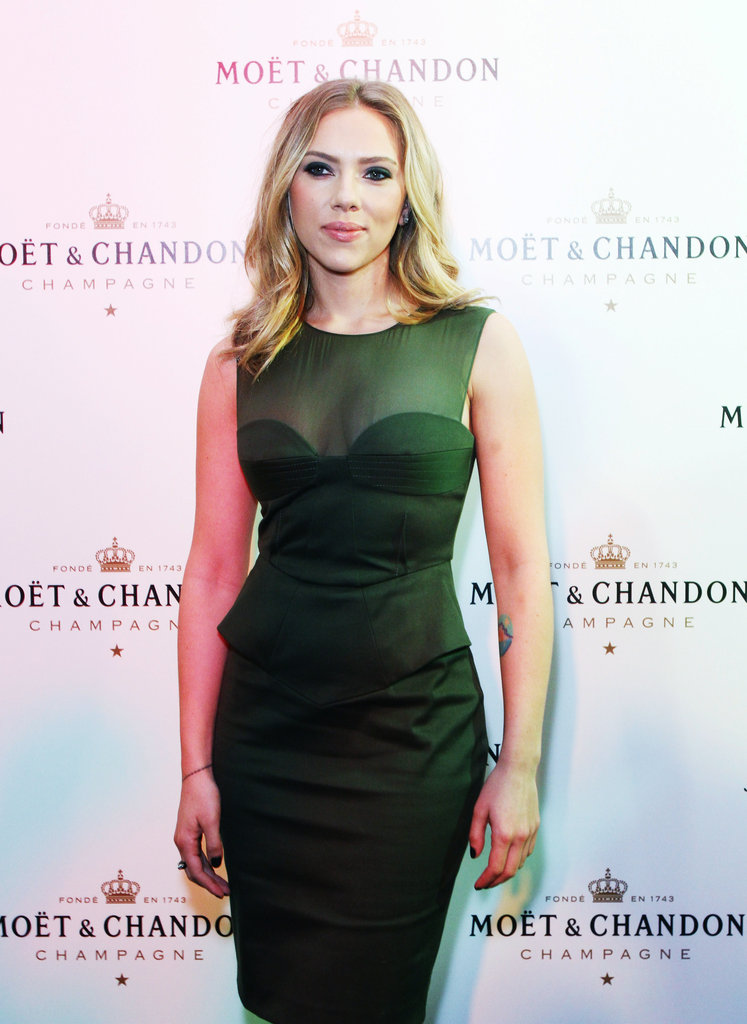 Scarlett Johansson stepped out for Moët & Chandon's anniversary party in Moscow.