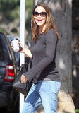 Jennifer Garner was all smiles in Brentwood.