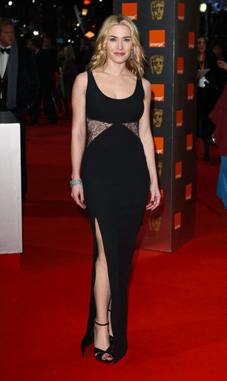Kate knocked it out of the park in this lace inset Stella McCartney gown — complete with thigh-high slit — at the BAFTA Awards in February 2010.