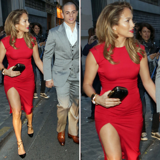 Steal Jennifer Lopez's sizzling red sheath for yourself.