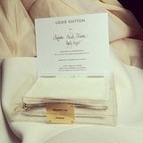 Nicole Warne's invite to the Louis Vuitton show at Paris Fashion Week. Jealous, us? Source: Instagram user garypeppergirl