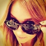 Lauren Conrad looked chic in her new Céline sunglasses. Source: Instagram user laurenconrad