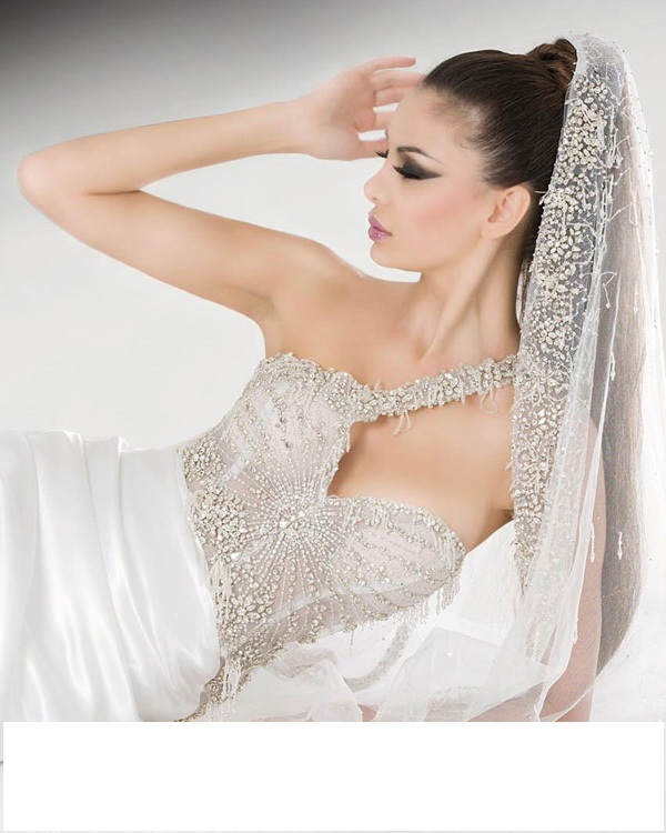 wedding dresses rhinestones