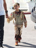 Kingston Rossdale wore a Halloween costume.