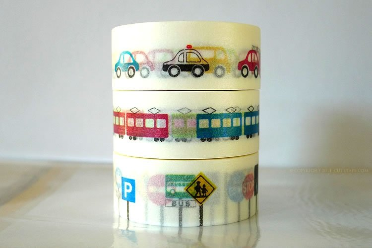 Kids Theme Rides Washi Tape