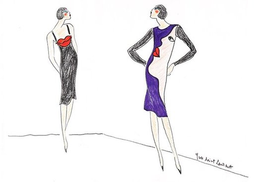 Yves Saint Laurent's Private Sketches