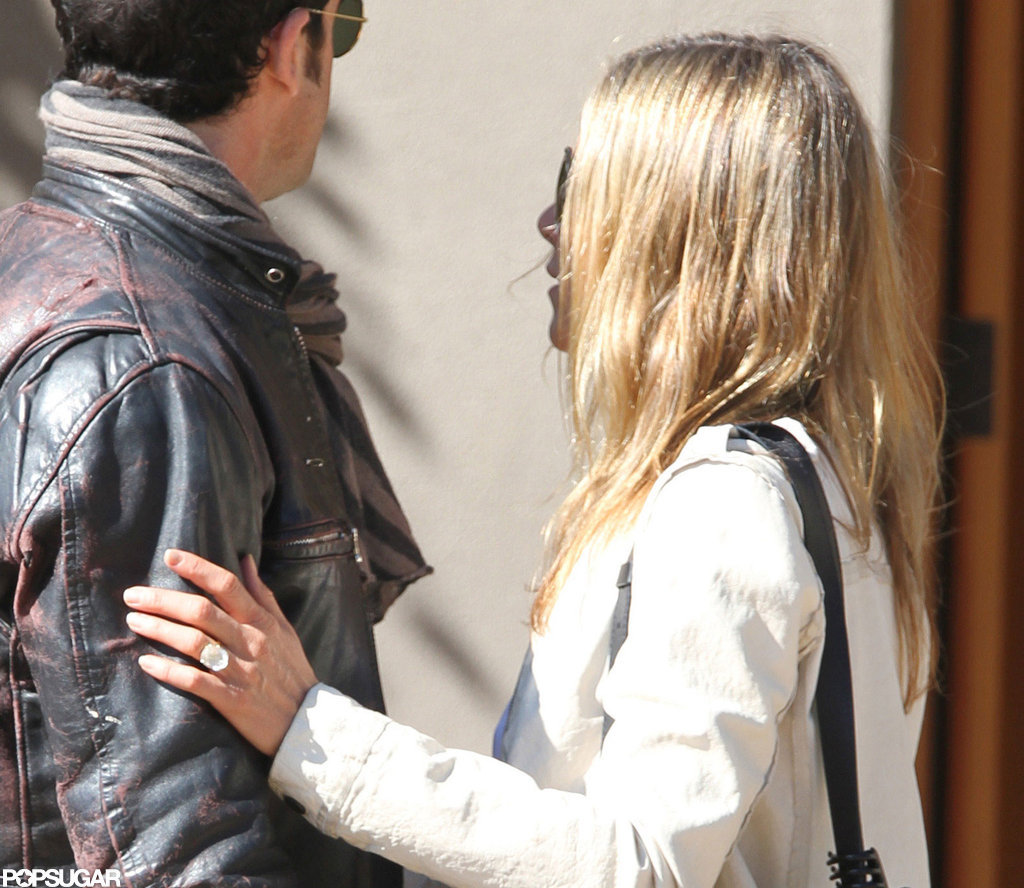 Jennifer Aniston's engagement ring was in display in Santa Fe.