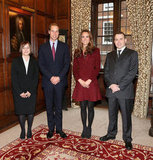 Kate Middleton and Prince William posed for pictures with Kerri-Anne Ferdinando and Steven Kennedy at Middle Temple.