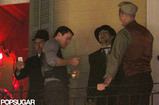 Channing Tatum hung out with friends in New Orleans.