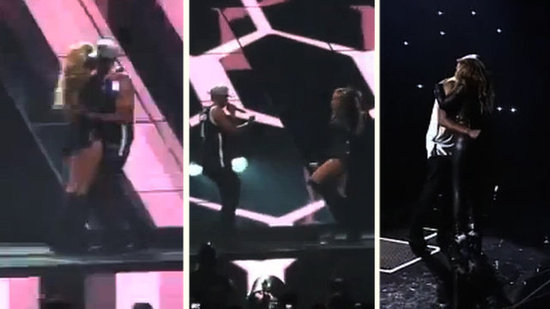 Video: See Beyoncé and Jay-Z's PDA-Filled Performance in Brooklyn