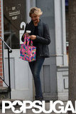 Cameron Diaz carried a hot-pink tote with her for a shopping trip in NYC.