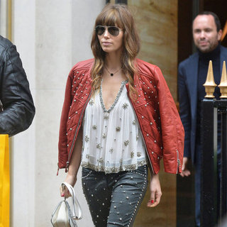 Jessica Biel Walking in Paris | Pictures