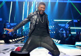 Usher got up close and personal with fans during his performance at the iHeartRadio Music Festival in September 2012.