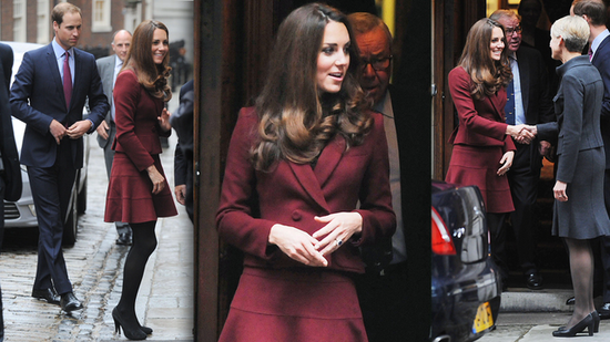 Kate Middleton Shows Us How to Wear This Season's It Color: Burgundy!