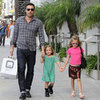 Cute Pictures of Ben Affleck With Daughters Violet and Seraphina