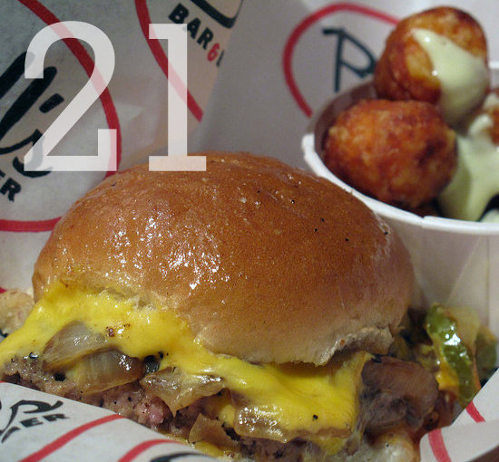 21: The number of different burgers at last year&#039;s Burger Bash. 