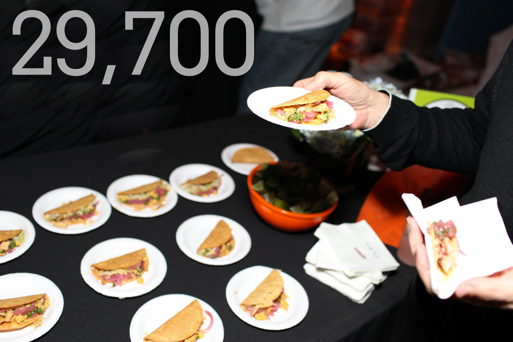 29,700: The number of soft tacos being served at this year's Tacos & Tequila.