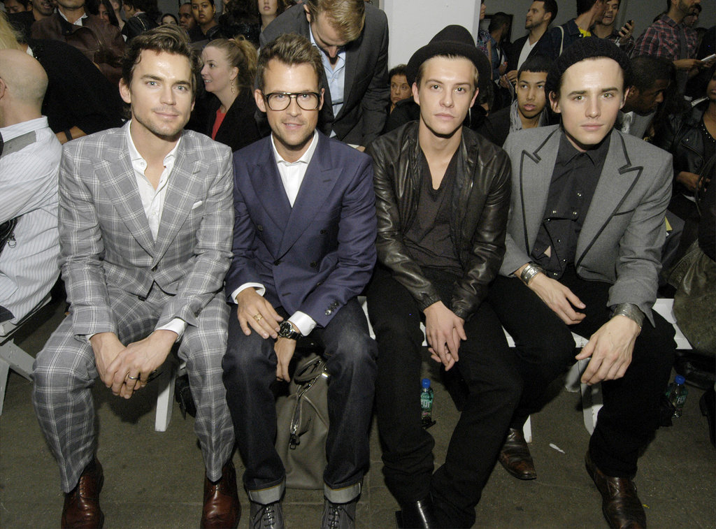 Matt Bomer sat front row during a September 2010 presentation of Simon Spurr's Spring 2011 collection with Brad Goreski and Xavier Samuel.