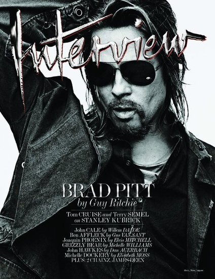 Brad Pitt covers Interview's latest issue.
