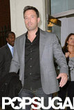 Ben Affleck wore a black shirt and blazer.