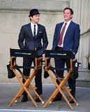 Matt Bomer and Tim DeKay took a break from filming in NYC in April 2012.