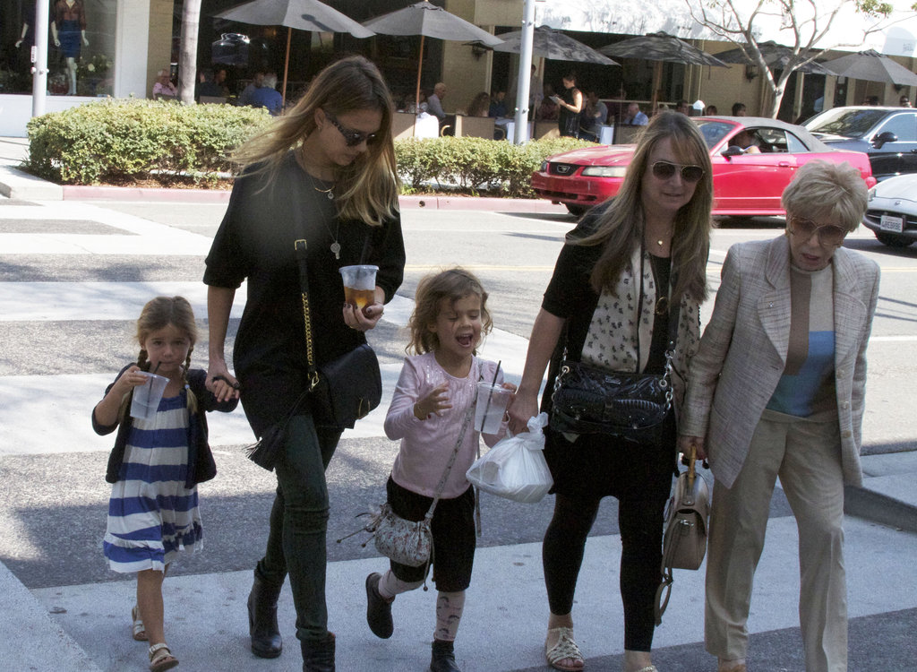 Jessica Alba watched over Honor on a playdate in LA.