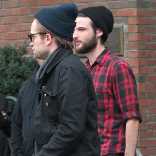 Robert Pattinson and Tom Sturridge at Bowery Hotel