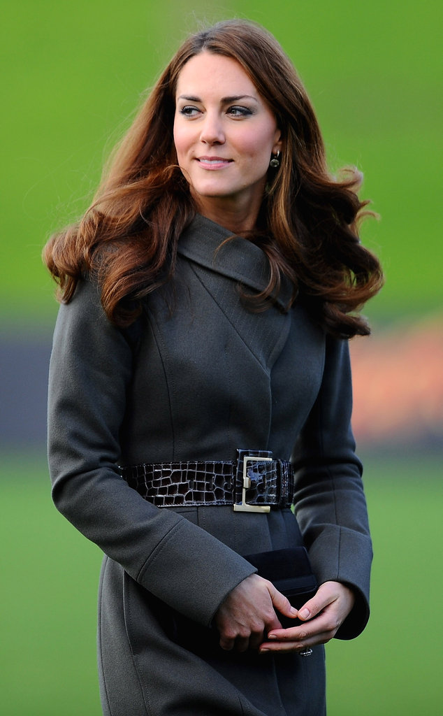 Kate Middleton welcomed Fall in a Reiss jacket.