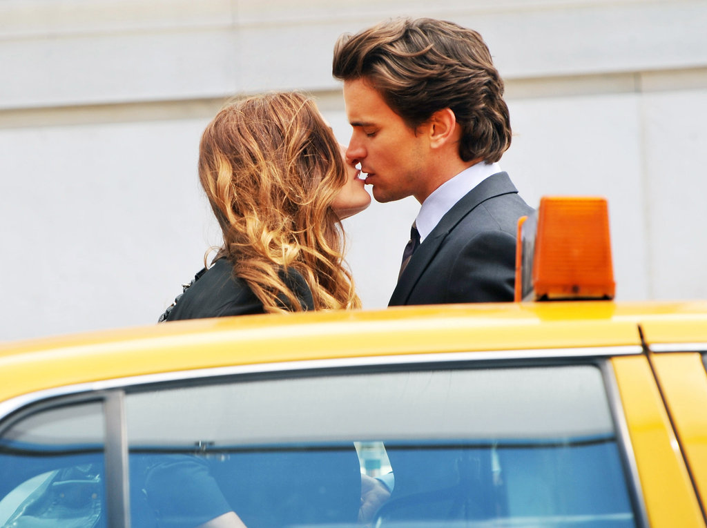 Matt Bomer and Gloria Votsis shared a kiss filming White Collar on the streets of Manhattan in May 2010.