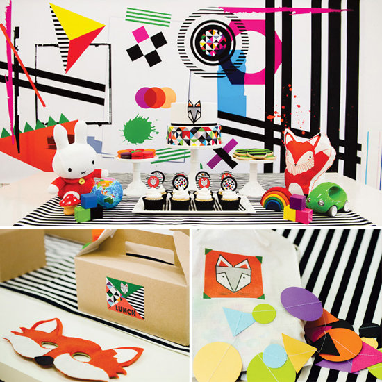 A Bold Geometric Fox Party For Zoe's Third Birthday
