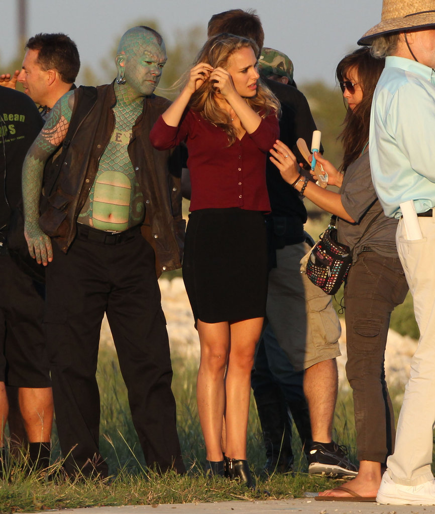 Natalie Portman was on the set of her new movie in Texas.