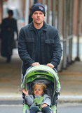 Matt Damon took Stella for a walk in NYC.