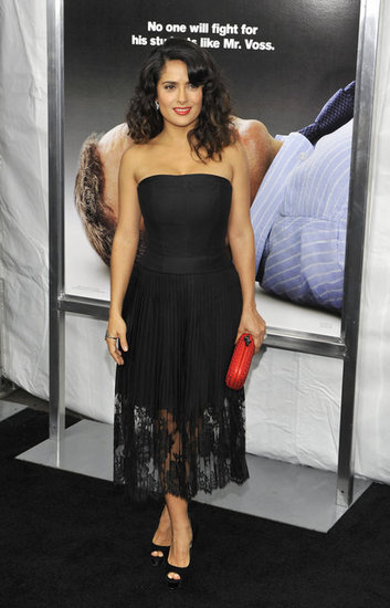 Salma Hayek Goes Sexy and Strapless For Here Comes the Boom