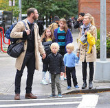 Naomi Watts and Liev Schreiber spent a rainy day with their sons, Sasha and Kai, in the Big Apple.