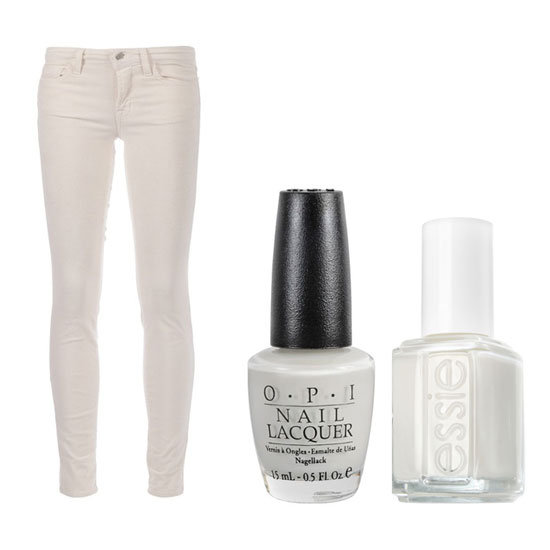 Nail the Look: J Brand's White Skinny Fit Jeans