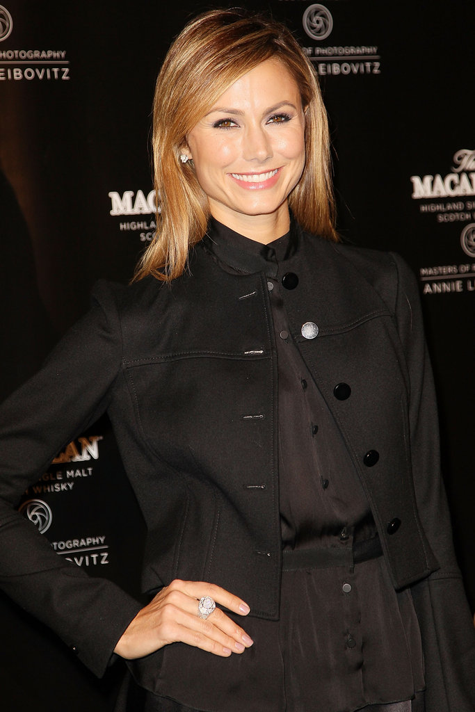 Stacy Keibler wore all black for the event at the Bowery Hotel in NYC.