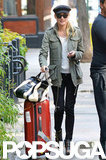 Diane Kruger wheeled her suitcase out of her NYC hotel.