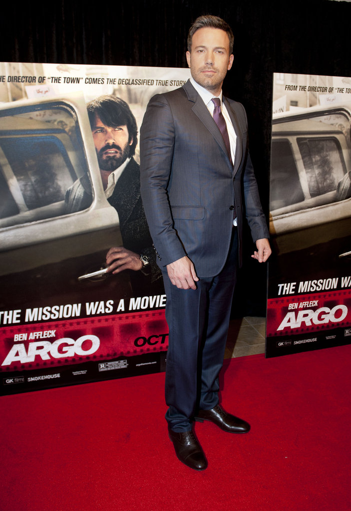 Ben Affleck hit the red carpet at his Argo premiere in Washington DC.