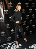 Stacy Keibler chose black pumps and a red clutch for the event at the Bowery Hotel in NYC.