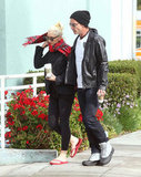 Gwen Stefani and Gavin Rossdale were bundled up for a coffee run in LA.