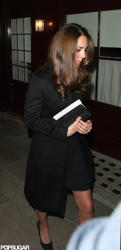 Kate Middleton spent an evening with her husband, Prince William, and friends in London.