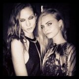 Karlie Kloss partied with Cara Delevingne. Source: Instagram user caradelevingne