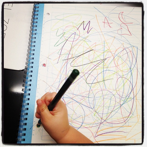 Skyler Berman took some colorful notes in Rachel Zoe's office this week.  Source: Instagram user mandanadayani