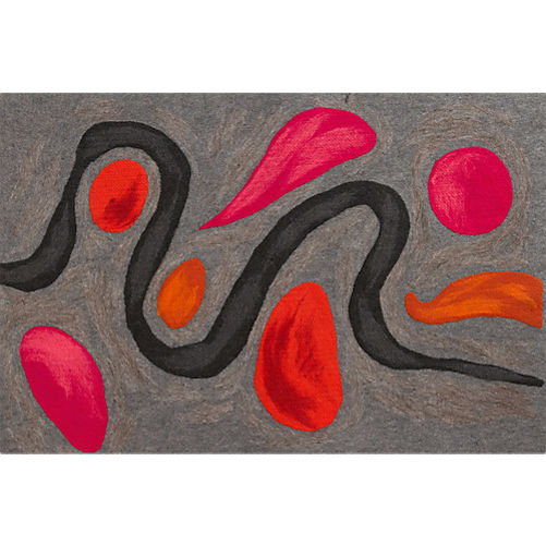 A bright, artistic pattern gives the CB2 Calder Doormat ($30) a cool, contemporary feel.