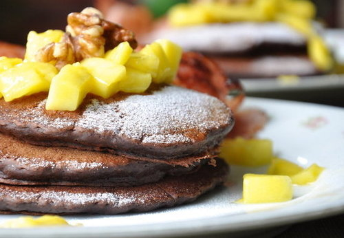 Chocolate-Cinnamon Pancakes