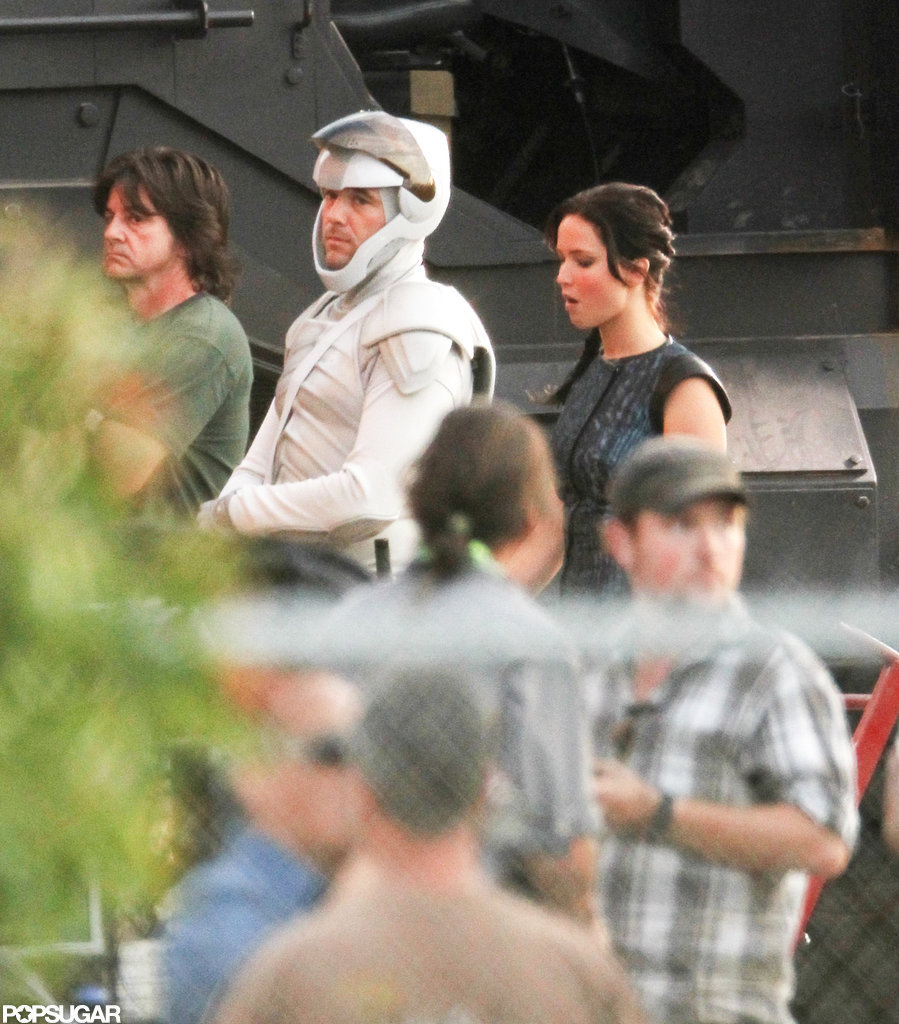 Jennifer Lawrence was on the Hunger Games: Catching Fire set in Atlanta.