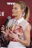 Kate Bosworth took the stage to speak at a promotional event for her skin care line in Sydney.